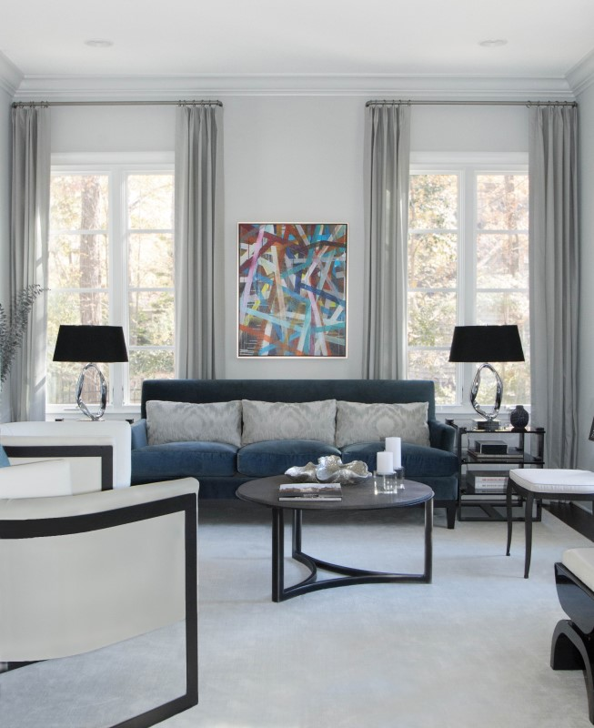 Residential i laura casey interiors for Residential living room interior design