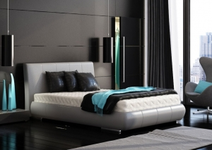 black-bedroom-turquoise-accents