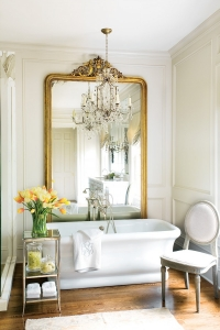 gilded-mirror-lav-bath-french-chair-elegant-toom-decorating-eclectic-home-decor-ideas-atlatnaeclecticrevisited