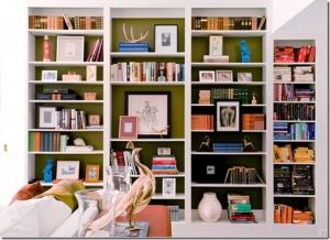 green-bookcase