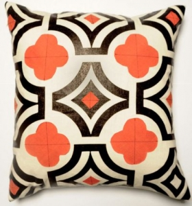 orange-and-black-pillow
