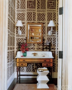 powder-room-by-Tom-Scheerer-with-trellis-wallpaper