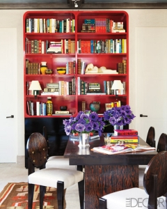 red-bookcase